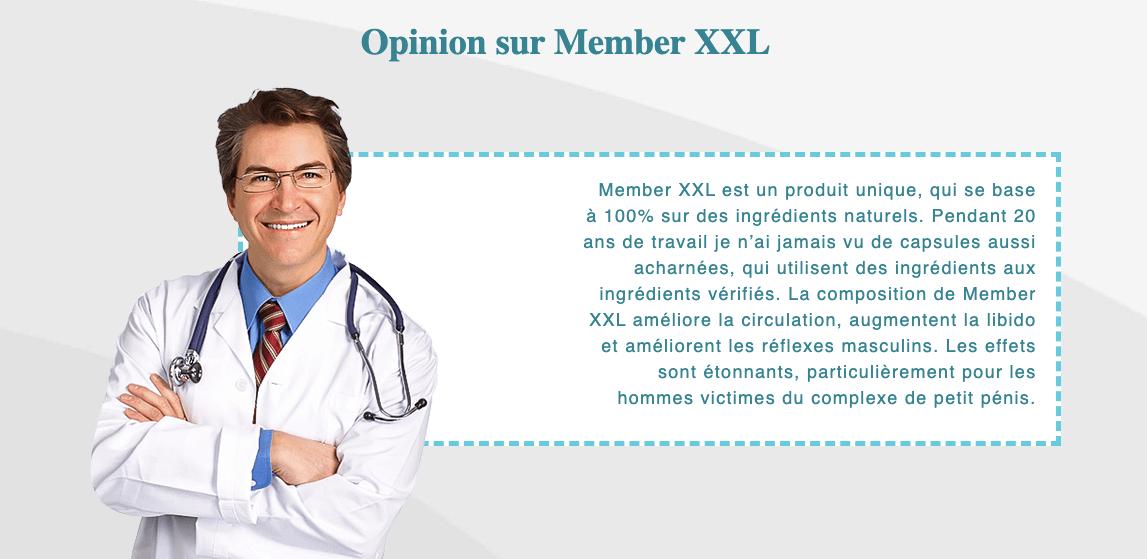 Member XXL et effets secondaires